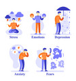 man with mental problems psychological vector image