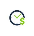 money time logo icon design vector image vector image