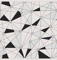 monochrome grid seamless pattern vector image vector image