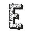 monochrome vintage alphabet letter e template