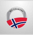 norway my country flag badge vector image