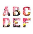 original handmade watercolor alphabet design vector image vector image