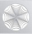 paper spider web origami halloween decoration vector image vector image