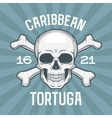 Pirate insignia concept Caribbean tortuga island vector image