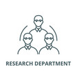 research department line icon linear vector image vector image