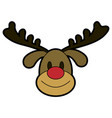 rudolph the red nose reindeer christmas character vector image
