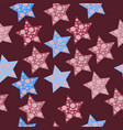 seamless star pattern with dots vector image vector image