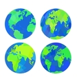 Set of earth globes vector image