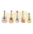 set of musical instruments-01 vector image vector image