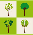 set of trees ecology shape differents environment vector image