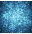 shiny blue snowflakes seamless pattern vector image vector image