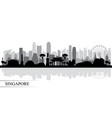 singapore city skyline silhouette background vector image