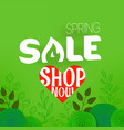 spring sale offer shopping banner template with vector image vector image
