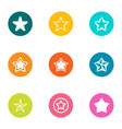 star icons set flat style vector image vector image