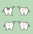 step of decay tooth to first teeth vector image vector image