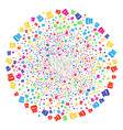 toxic rubbish burst spheric cluster vector image vector image