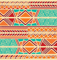 tribal ethnic colorful bohemian pattern vector image vector image