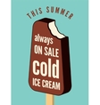 Typographical vintage ice cream poster vector image