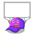 up board cap shape in the a cartoon vector image