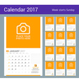 Wall Monthly Calendar for 2017 Year Design Print vector image