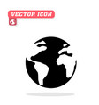 world icon white background image vector image