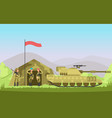us army soldier with gun in uniform cartoon vector image
