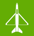 military aircraft icon green vector image