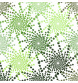 half tone pattern with dots in green - monochrome vector image