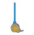 mop sweep object to clean the house vector image