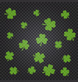 saint patrick s day pattern with green clover vector image