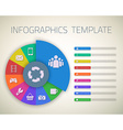 Web Infographic Timeline Pie Template Layout With vector image
