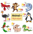 alphabet animals from l to s vector image vector image