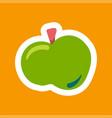 apple flat vector image
