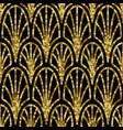 art deco golden sequin seamless pattern gatsby vector image vector image