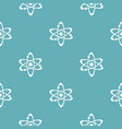 atom pattern seamless blue vector image