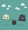 Balancing with income and tax vector image vector image