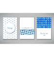 Beautiful set of cards vector image vector image