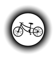 Bike button vector image vector image