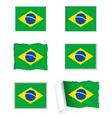 Brazil flag set vector image vector image