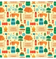 Camping equipment seamless pattern vector image vector image