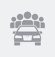 carsharing application concept icon vector image