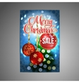 Christmas Sale Poster background with vector image vector image
