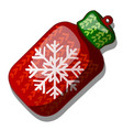 christmas toy in the form of a woolen knitted vector image vector image