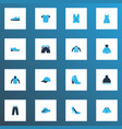 clothes icons colored set with pompom mini dress vector image vector image