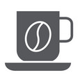 coffee mug glyph icon food and drink cup sign vector image vector image