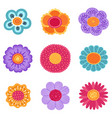 collection of spring flower icons in vector image vector image