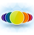 Colorful circles abstract background vector image vector image