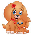 cute little dogs cartoon vector image vector image