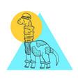 cute outline of cartoon diplodocus vector image