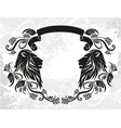 decorative frame with lions vector image vector image